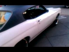 video of pro touring chevelle 71 painted bumpers powder coated