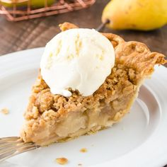 Pie is an easy flaky pie crust filled with juicy pear-ginger filling ...