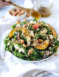crunchy cashew kale salad I howsweeteats.com