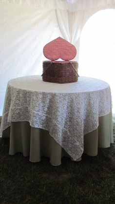 Lace overlay at a rustic wedding event