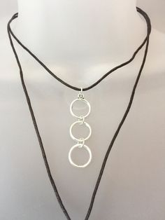 Triple Karma Circle Necklace, Wrapped Bolo Choker Necklace, Boho Choker, Layering Necklace, Statement Choker, Christmas Gift, by LightWanderings on Etsy