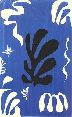 Composition on blue ground, 1951 / Matisse