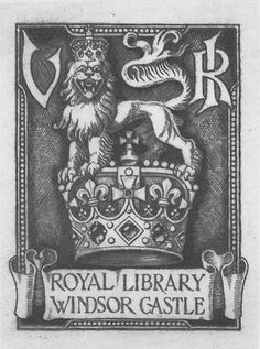 Royal bookplate by G W Eve for Queen Victoria, 1898 : Viner 54