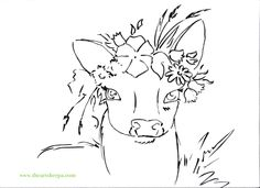 Deer with floral Cro