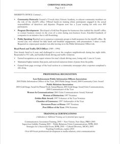pr manager page2 - Non Profit Resume