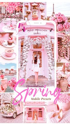 Sprink Pink- 3 Mobile Lightroom presets - Change your instagram feed with this romantic preset!  #lightroompresets #blogger #travelblogger #pink Pink Mobile, 3 Mobile, Pink Instagram, Instagram Feed, Peggy Porschen Cakes, Lightroom Presets, Romantic, Spring, Ps