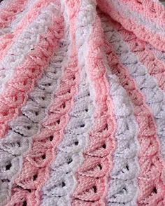 Broomstick Lace Baby Afghan Crochet Pattern Mais