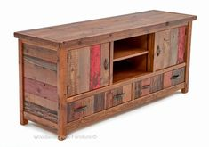 Casual Cottage Entertainment Center Available in Custom Sizes and Layouts
