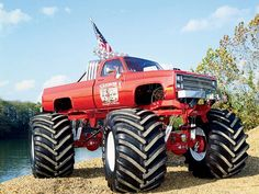 Lifted Trucks Bigger Than A Monster , Cooler Than You Think, Great! Lifted Trucks Bigger Than Godzilla, They Chevy Pickup Trucks, Chevy Pickups, Chevrolet Trucks, Gmc Trucks, Lifted Trucks, Cool Trucks, Mudding Trucks, Chevy 4x4, Monster Jam