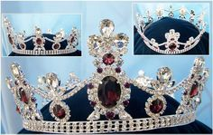crown designers byzantine style full regency | Crown/Royal Tsarina State Rhinestone Full Silver Queen, King Crown ...