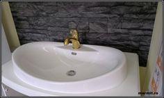 lavoar compozit oval, lavoar oval Gonesse, chiuveta baie compozit, lavoar partial incastrat Sink, Home Decor, Sink Tops, Vessel Sink, Decoration Home, Room Decor, Vanity Basin, Sinks, Home Interior Design