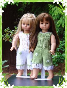 Kiah, PDF Doll Clothes a lace detailed jump suit knitting pattern for American Girl Dolls & Gotz Dolls by Debonair Designs Knitting Dolls Clothes, Crochet Doll Clothes, Knitted Dolls, Girl Doll Clothes, Doll Patterns, Knitting Patterns, Pixie, Diy Vetement, Gotz Dolls