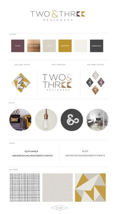 Logo and Brand Design :: Two & Three Designers :: Saffron Avenue