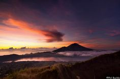 "500px / Photo ""Bali Sunrise"" looking at Mt Agung, taken from Mt Batur which are both volcano's"