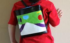 Buzz Lightyear inspired Backpackautograph book bag by DaisyBags, $25.00