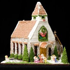 This Snowy Gingerbread Chapel | Community Post: 25 Amazing Gingerbread Houses