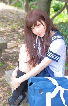 Japanese School Uniform, School Uniform Girls, Girls Uniforms, High School Girls, School Uniforms, Asian Cute, Cute Asian Girls, Sweet Girls, Cute Girls