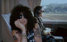 Slash and Izzy Stradlin! Slash looks so cute