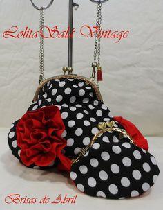 Handmade Handbags, Handmade Bags, Fabric Wallet, Frame Purse, Spanish Fashion, Vintage Bags, Bag Making, Quilt Patterns, Coin Purse