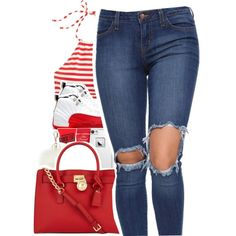 A fashion look from July 2016 by uniquee-beauty featuring J.Crew, Michael Kors, LifeProof and Charlotte Russe