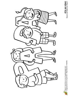 Dessin à colorier fête des pères, cadeaux des enfants - Hugolescargot.com