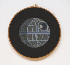 Death Star Star Wars Cross Stitch Pattern Modern von Stitchering