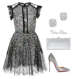 New Years Eve Ideas by terra-glam on Polyvore featuring polyvore moda style Elie Saab Christian Louboutin Jimmy Choo Bloomingdale's fashion clothing