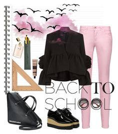 """""""BACK TO SCHOOL"""" by carolinarcieri on Polyvore featuring Just Cavalli, Rachel Comey, WithChic, Balenciaga, Aesop, Gucci and Jayson Home"""