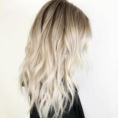 icy white platinum blonde balayage