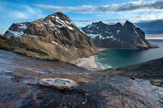 Kvalvika Beach Lofoten Norway | by Daniel Bosma.  - use #HattvikaLodge as your Base Camp for exciting guided adventures and activities in Lofoten