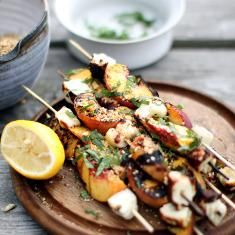 Grilled Halloumi And Peaches With Dukkah (via www.foodily.com/r/5RXjErLJD)