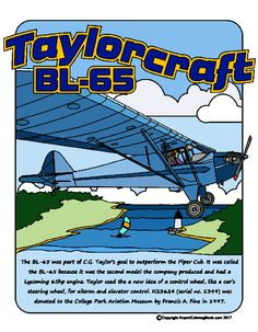 Airport Coloring Book Taylorcraft BL-65