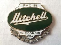 Vintage Mitchell Automobile Emblem Radiator Badge | eBay