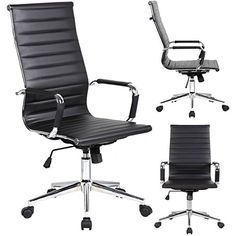 This elegant office chair will add an upscale appearance to your office. The comfort molded seat has built-in lumbar support and features a locking tilt mechanism for a mid-pivot knee tilt.