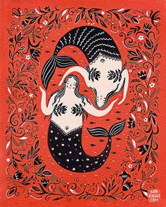 Add some magic to your art collection with a mermaid print by Dinara Mirtalipova.