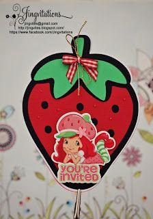 strawberry shortcake birthday party invitations #strawberryshortcake
