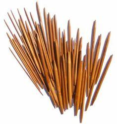 "13 x 5pcs 5"" (13cm) Carbonized Bamboo Double Pointed Knitting Needles Size 2mm - 8mm: Amazon.co.uk: Kitchen & Home"