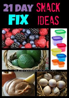 21 Day Fix Snack Ideas - Sublime Reflection