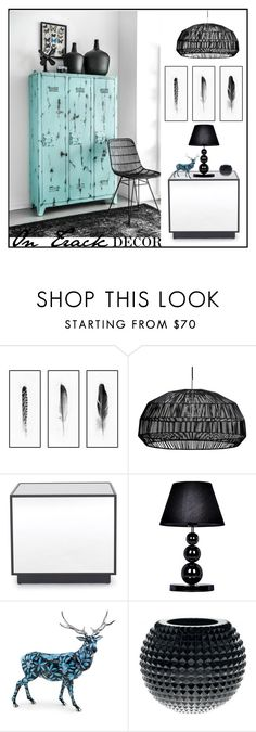 """""""On Track Decor"""" by loveartrecyclekardstock ❤ liked on Polyvore featuring interior, interiors, interior design, home, home decor, interior decorating, Kim Salmela, Mitchell Gold + Bob Williams, Universal Lighting and Decor and Herend"""