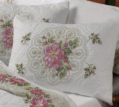 cross stitch pattern - rose lace fan quilt  gorgeous!
