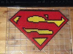 Superman perler beads by zexperiment