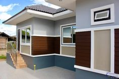 Elegant One Storey House Design - House And Decors My House Plans, Craftsman House Plans, Modern Bungalow House Design, One Storey House, Balcony Railing Design, House Design Pictures, Architectural House Plans, Storey Homes, Plan Design