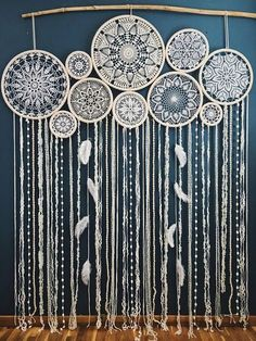 This stunning giant dream catcher wall hanging will become an unforgettable wedding decor centerpiece. It will set a bohemian mood and a free spirited vibe at your wedding. Absolutely beautiful and feminine, this crochet dreamcatcher wall hanging can be u