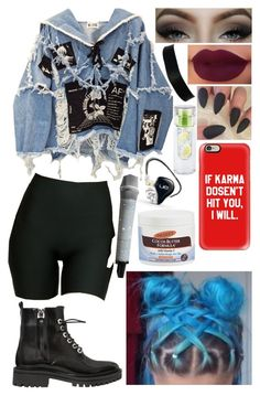 Pretty Girl by Maggie Lindemann by jacie on Polyvore featuring polyvore fashion style BLK DNM SPANX Kendall + Kylie Casetify Palmer's Ultimate clothing