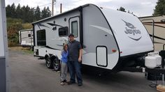 JAKE AND ANISHA's new 2017 Jayco Jay Feather X213! Congratulations and best wishes from Clear Creek RV Center and Carol Ost.