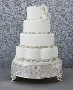 Simple and elegant wedding cake