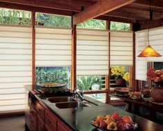 Shoji Window Vertical Screen with Transluent Paper to Create Japanese Kitchen Look Design