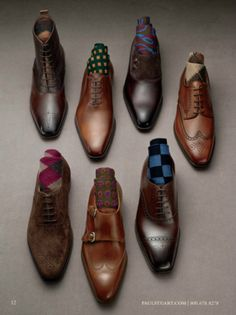 Match the right shoe with the right outfit. Black shoes go with almost every color suit. Brown shoes go well with navy or khaki. Don't forget the right color of socks!!!