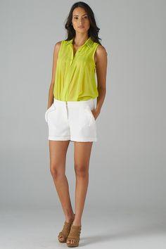 Lavishville - Metallic Embroidered Collar Sleeveless Shirt (Yellow), $36.00 (http://www.lavishville.com/metallic-embroidered-collar-sleeveless-shirt-yellow/)