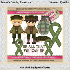 Army Girls 2 Clipart